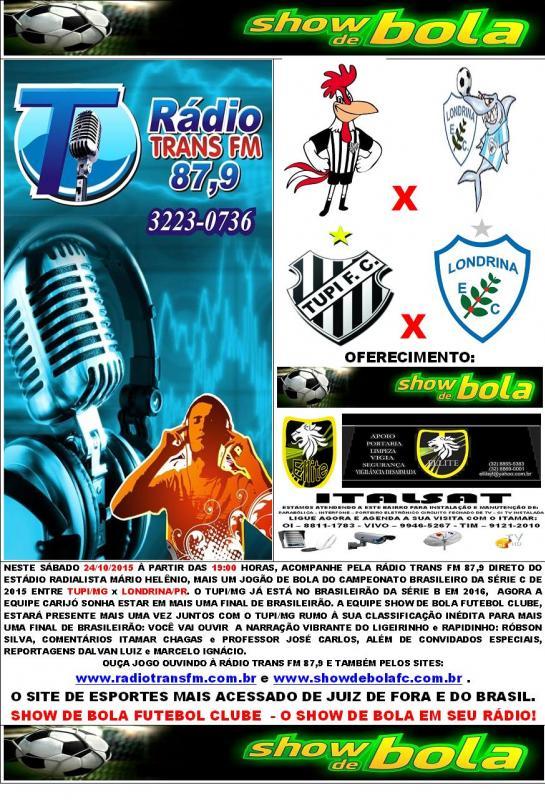 CHAMADAS OFICIAIS DO TUPI/MG NO CAMPEONATO BRASILEIRO DA SÉRIE C 2015.