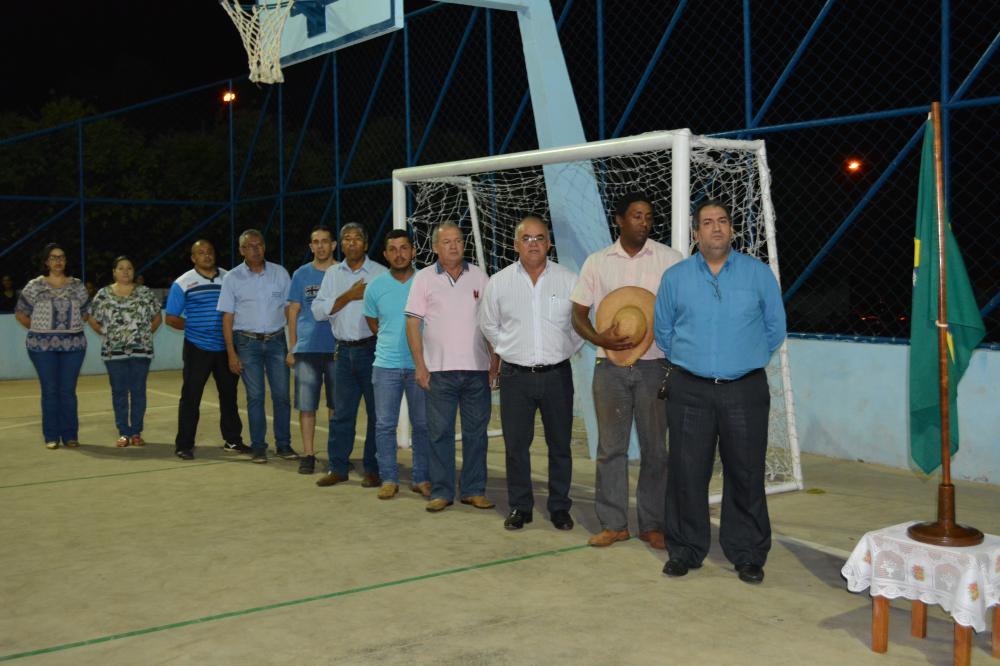 Inauguração da quadra da Escola  Áurea Soares Sônego