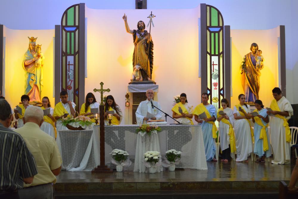 Missa de Lava-pés na Paróquia São João Batista