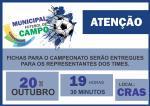 Comissão de esportes abre inscrições para campeonato municipal de futebol