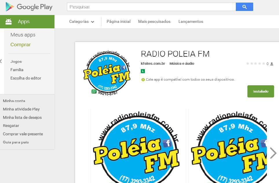 Aplicativo da Pol�ia FM para o seu Smartfone o Ifone